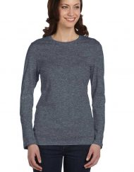 Fitted long-sleeve t charcoal