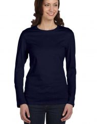 Fitted long-sleeve t navy